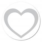 Herz Aufkleber auf Rolle