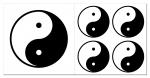 Yin & Yang Aufkleber-Set  5-teilig