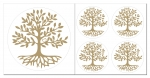 Baum des Lebens Aufkleber-Set  5-teilig