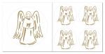 Engel  Aufkleber-Set  5-teilig