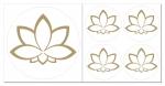 Lotusblüte Aufkleber-Set  5-teilig