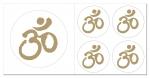 Om-Symbol Aufkleber-Set  5-teilig