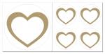 Herz Aufkleber-Set  5-teilig