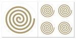 Spirale links Aufkleber-Set  5-teilig