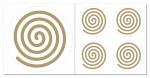 Spirale rechts Aufkleber-Set  5-teilig