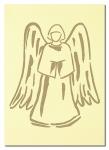 Doppelkarten mit Goldprägung Engel - 6 Stück
