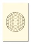 Doppelkarten mit Goldprägung Blume des Lebens - 6 Stück