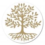 Baum des Lebens Aufkleber auf Rolle 1.000 Stück ca. 3 cm