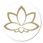 Lotusblüte Aufkleber auf Rolle