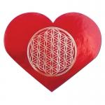Herz Aufkleber auf Rolle  ca. 4,5 x 3,7 cm