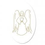 Engel Aufkleber auf Rolle  ca. 4 x 2,7 cm