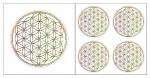 Blume des Lebens Aufkleber-Set  5-teilig Effektfolie