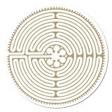 Chartres Labyrinth Aufkleber auf Rolle