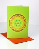 Doppelkarten mit Blume des Lebens Chakra - 6 Stück