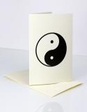 Doppelkarten mit Yin Yang - 6 Stück